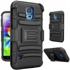 ykooe Case Belt Clip Shockproof for Samsung Galaxy S5 Black