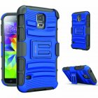 ykooe Belt Clip Shockproof Case for Samsung Galaxy S5 Blue